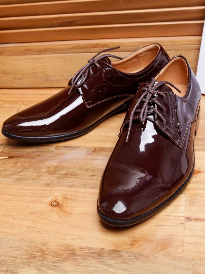 Giày tây da nâu bóng g97 - 3
