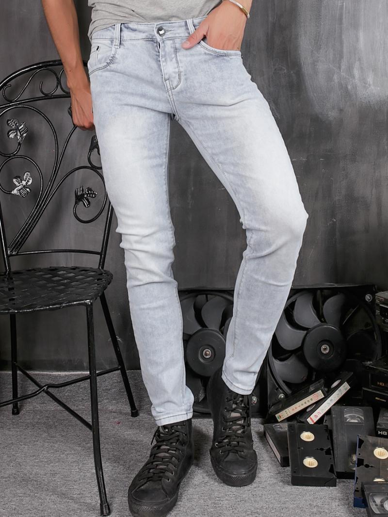 Quần jean skinny trắng xám qj1356 - 1