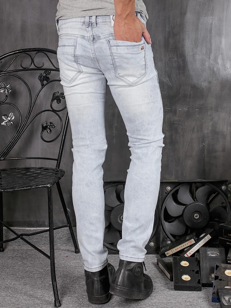 Quần jean skinny trắng xám qj1356 - 2