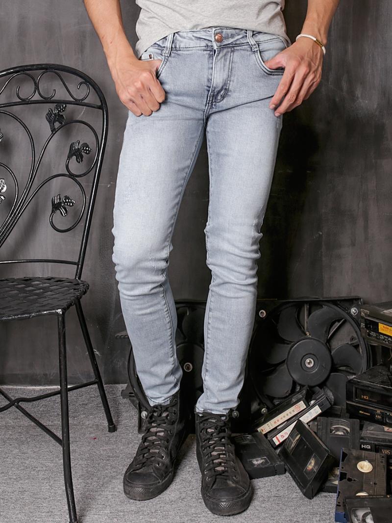 Quần jean skinny trắng xám qj1360 - 1