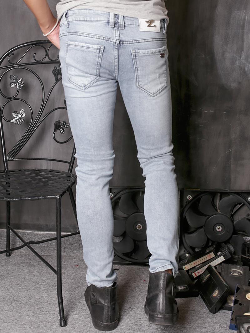 Quần jean skinny trắng xám qj1360 - 2
