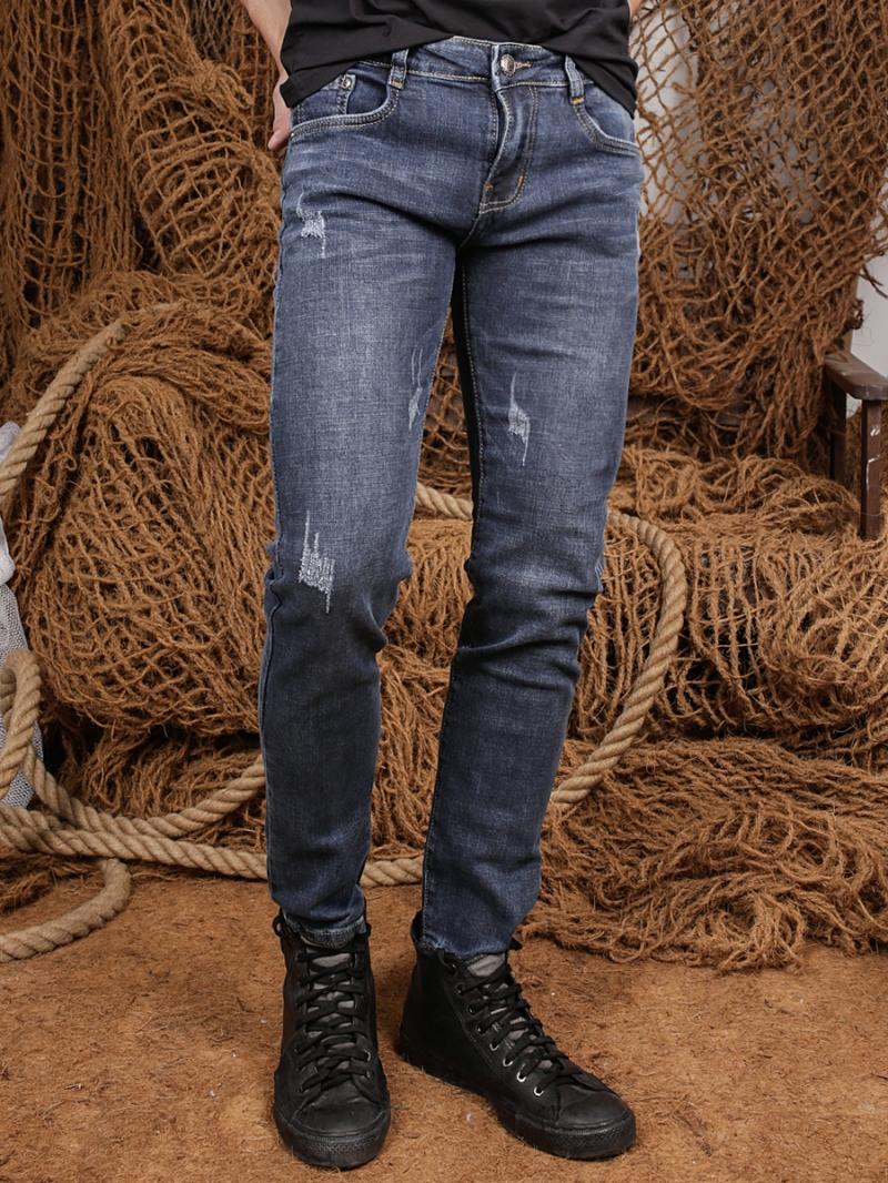 Quần jean skinny xanh dương đậm qj1362 - 1
