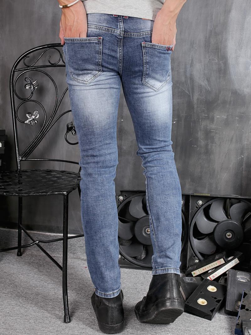 Quần jean skinny rách xanh dương qj1361 - 2