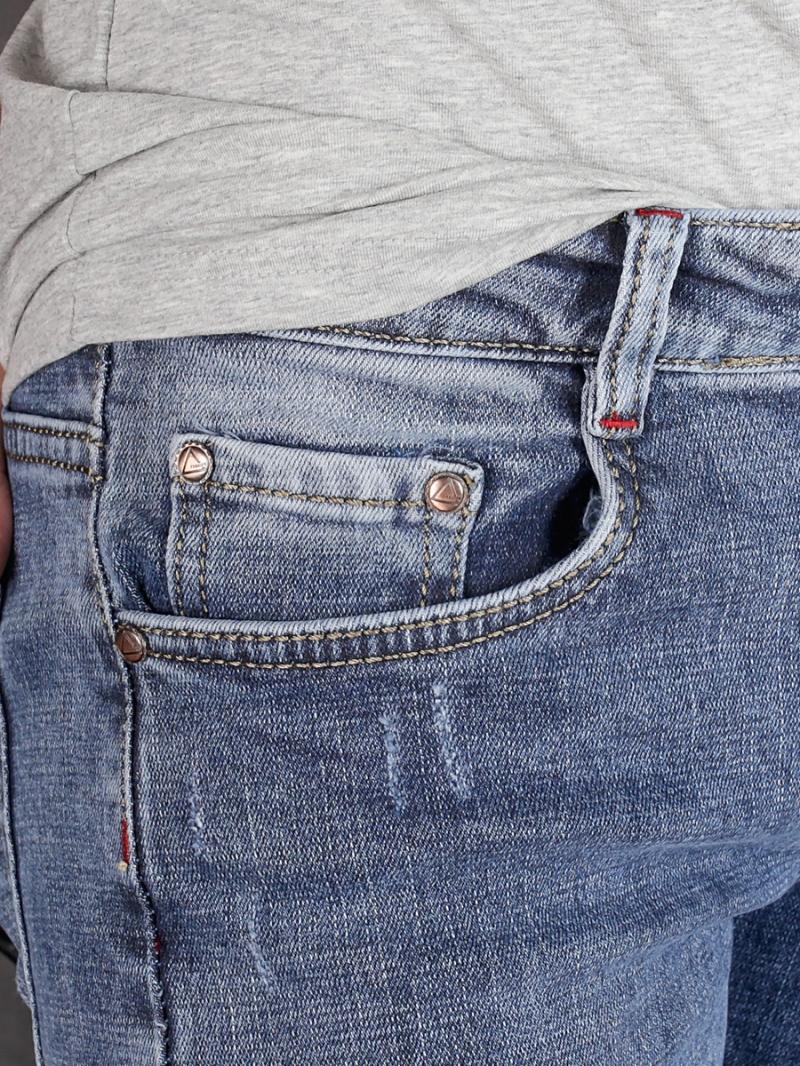 Quần jean skinny rách xanh dương qj1361 - 3