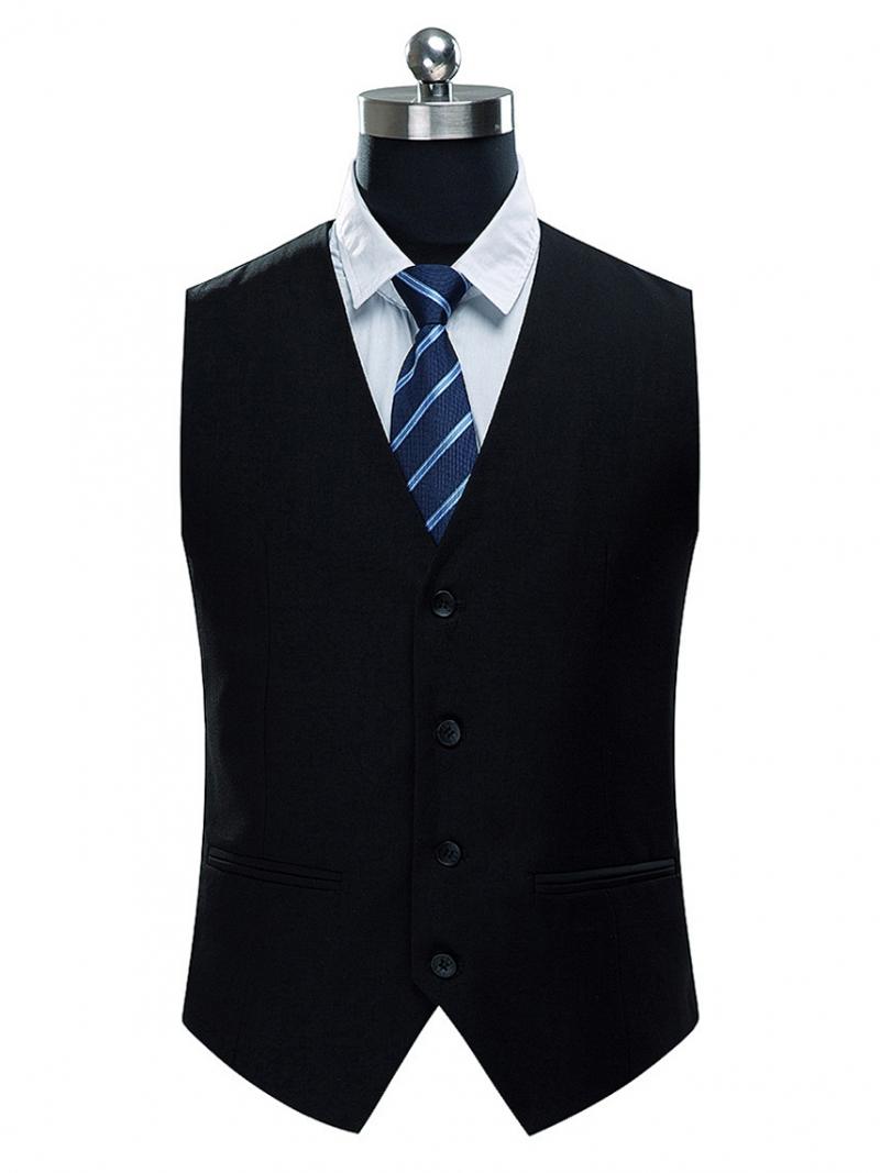 Áo gilê đen ag014 - 1