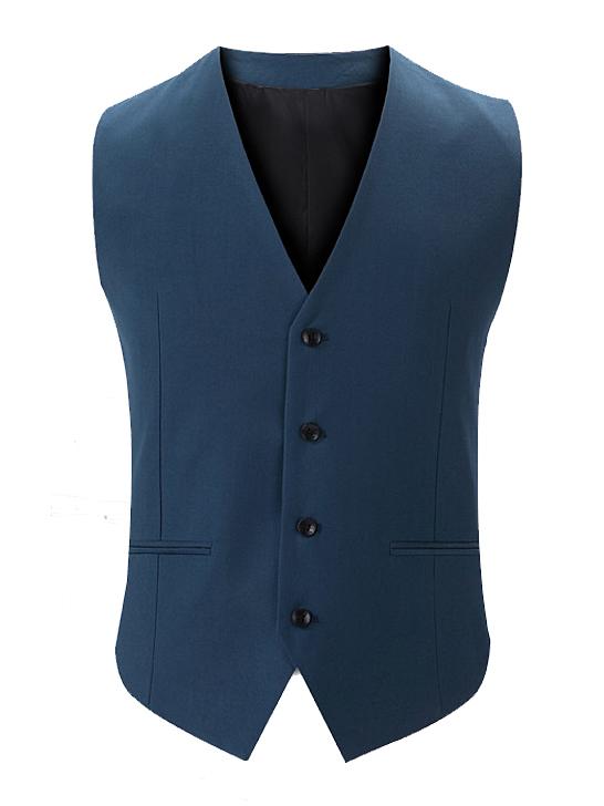 Áo gilê xanh biển đậm ag014 - 2