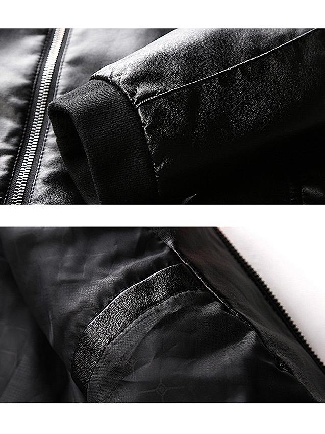Áo khoác da đen ak191 - 2