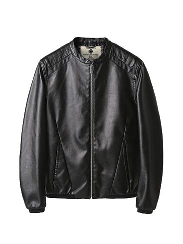 Áo khoác da đen ak192 - 2