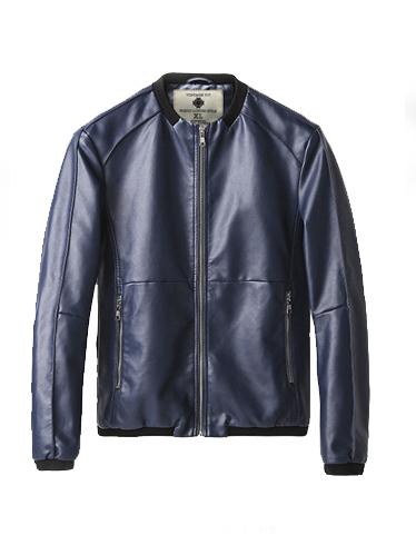 Áo khoác da xanh đen ak191 - 2