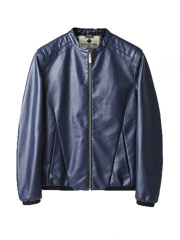Áo khoác da xanh đen ak192 - 2