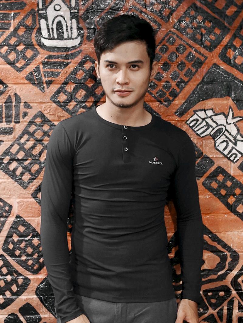 Áo thun tay dài đen at611 - 2