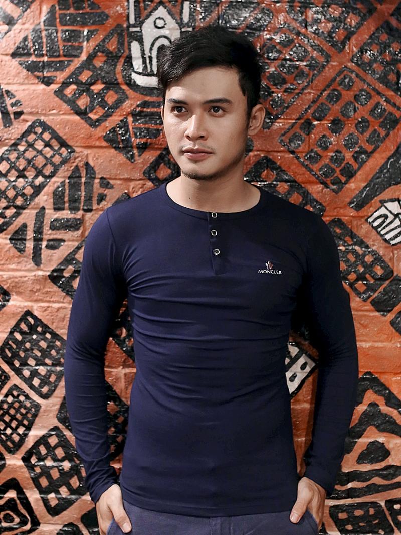 Áo thun tay dài xanh đen at611 - 2
