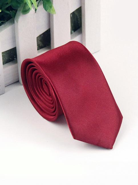 Cà vạt hàn quốc đỏ đô cv118 - 1