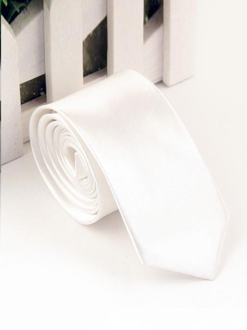Cà vạt hàn quốc trắng cv118 - 1