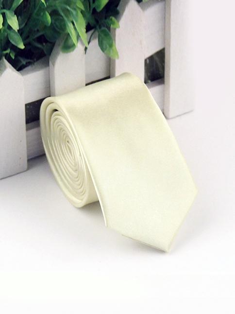 Cà Vạt Hàn Quốc Vàng Nhạt CV118