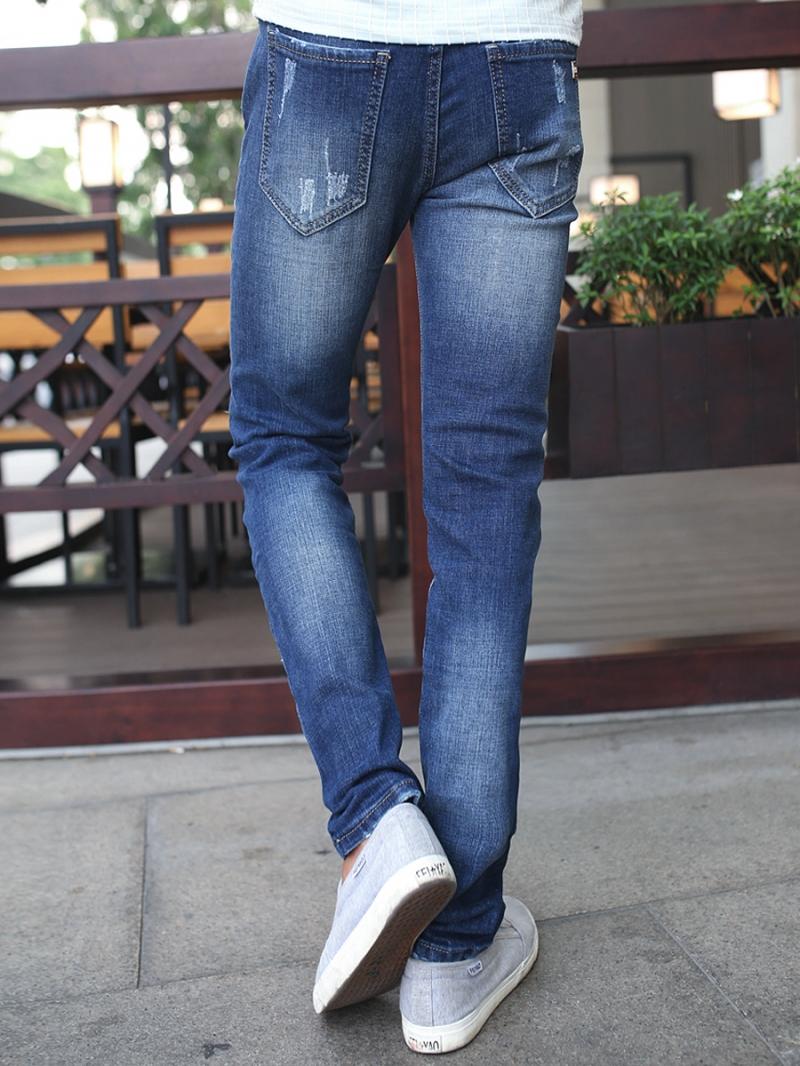Quần jean skinny rách xanh dương qj1378 - 3