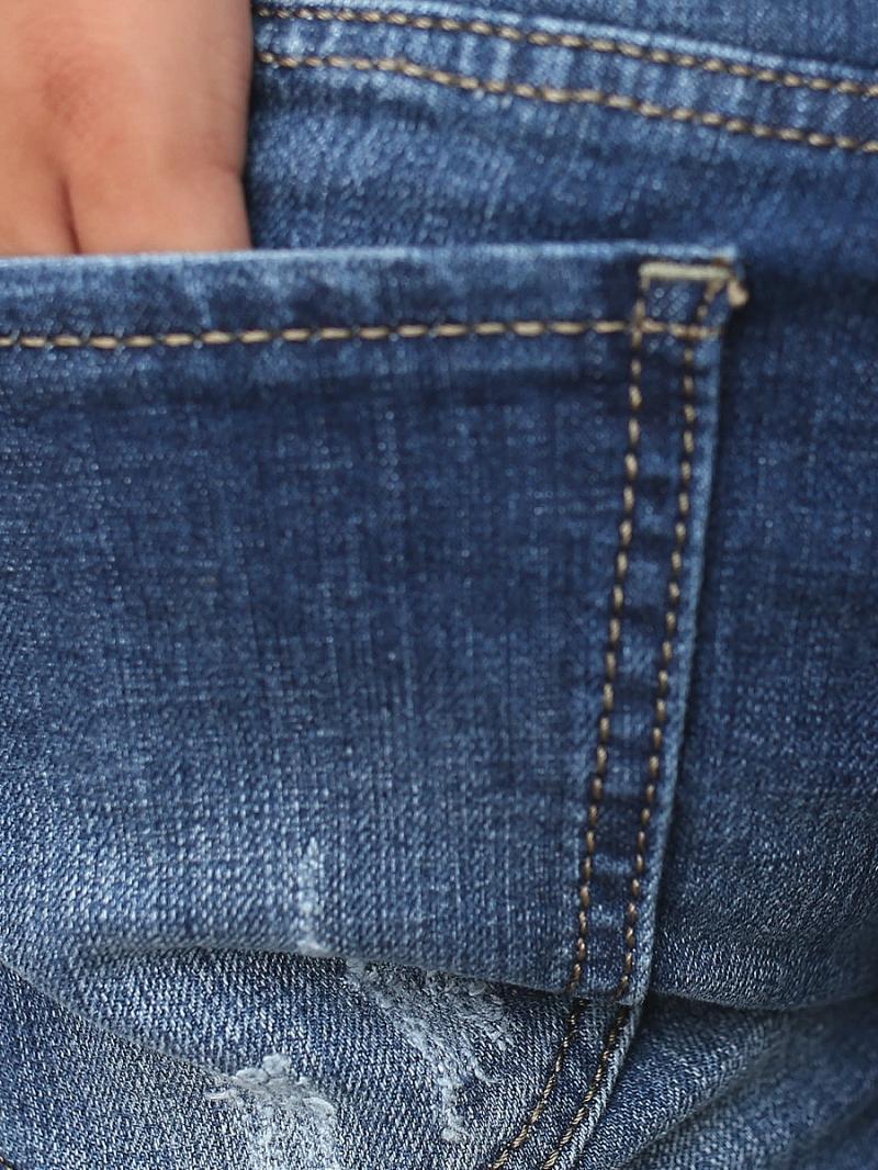 Quần jean skinny rách xanh dương qj1378 - 2