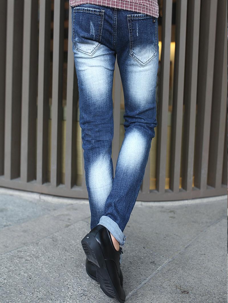 Quần jean skinny rách xanh dương qj1379 - 2