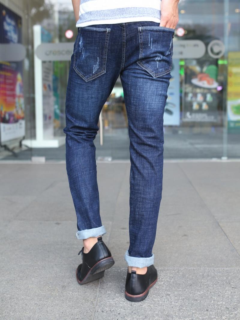 Quần jean skinny xanh đậm qj1382 - 3