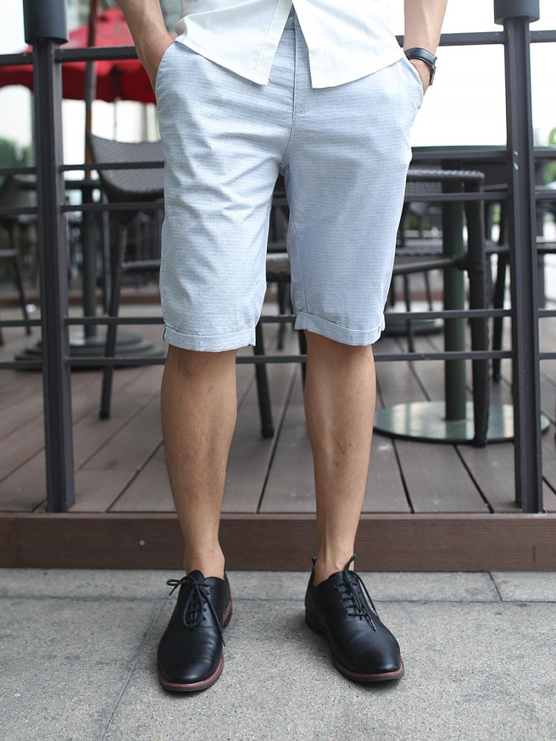 Quần short kaki xám xanh qs81 - 1