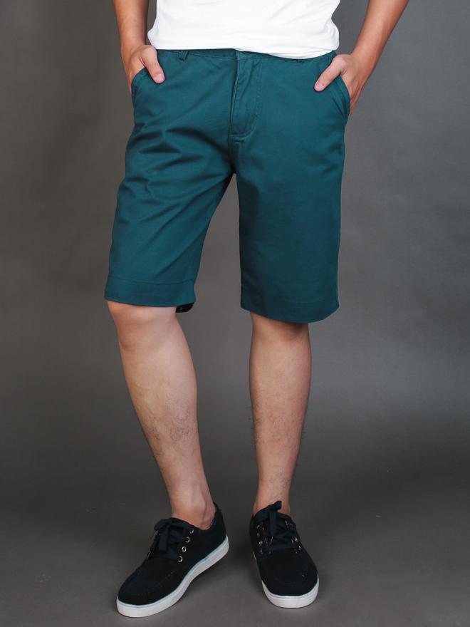 Quần short kaki xanh cổ vịt qs72 - 1