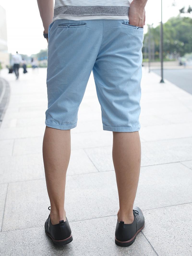 Quần short kaki xanh da trời qs79 - 2