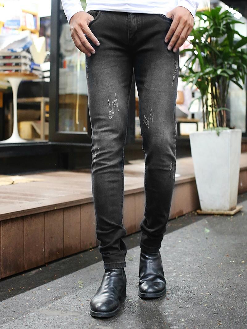 Quần jean skinny đen qj1383 - 1