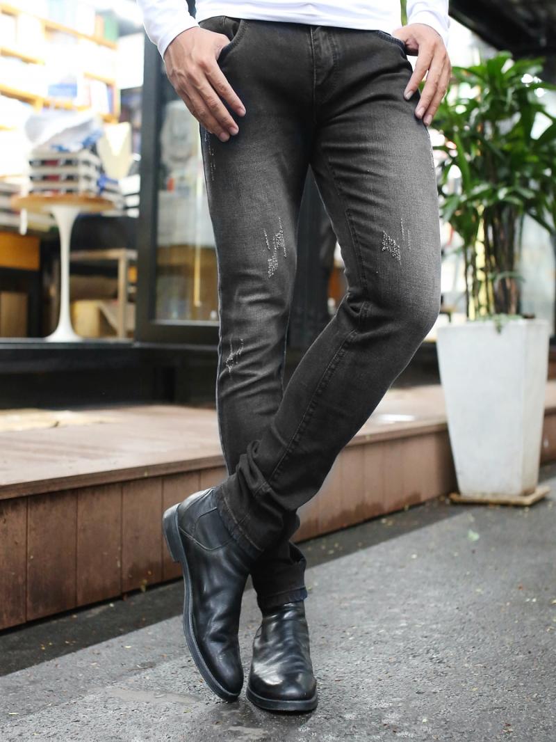 Quần jean skinny đen qj1383 - 3