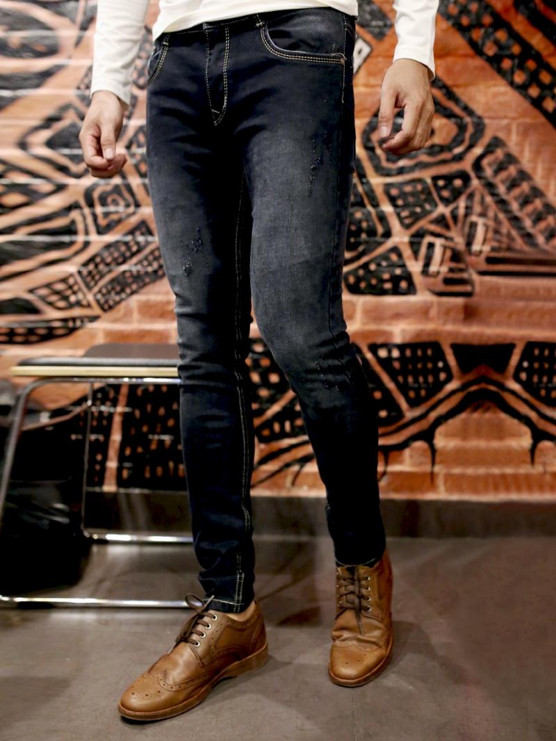 Quần jean skinny đen qj1387 - 3