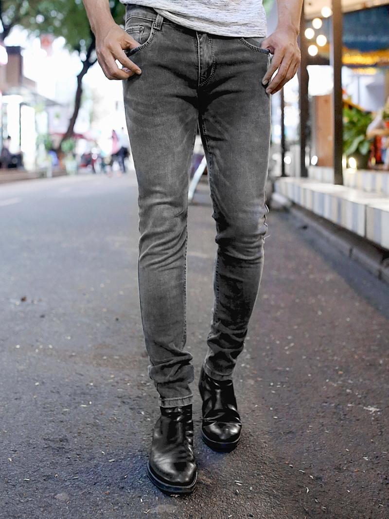 Quần jean skinny xám chuột qj1384 - 1