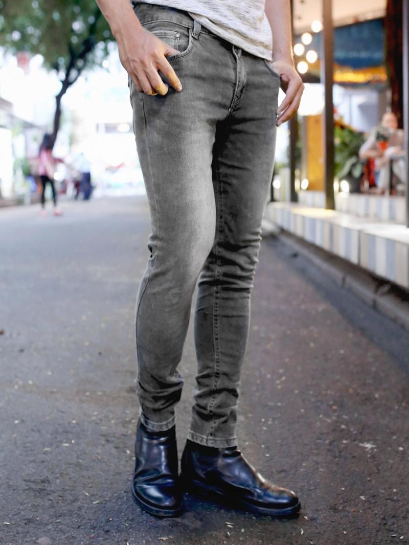 Quần jean skinny xám chuột qj1384 - 3