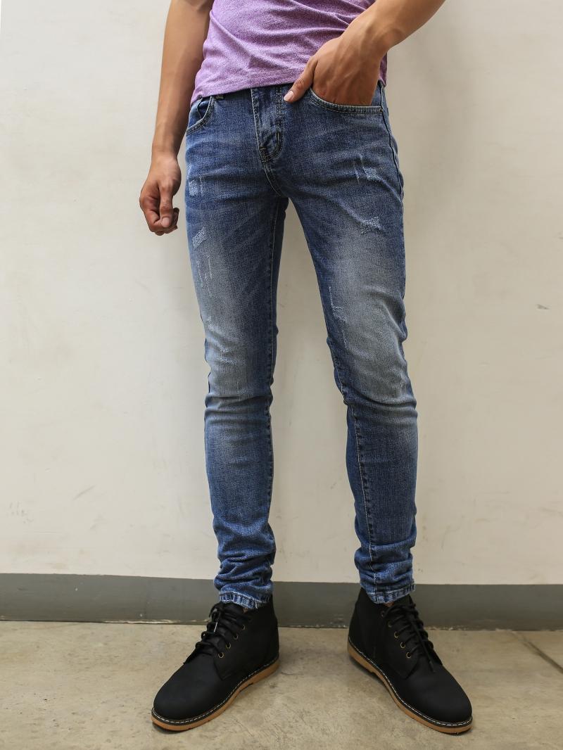 Quần jean skinny xanh dương qj1393 - 1