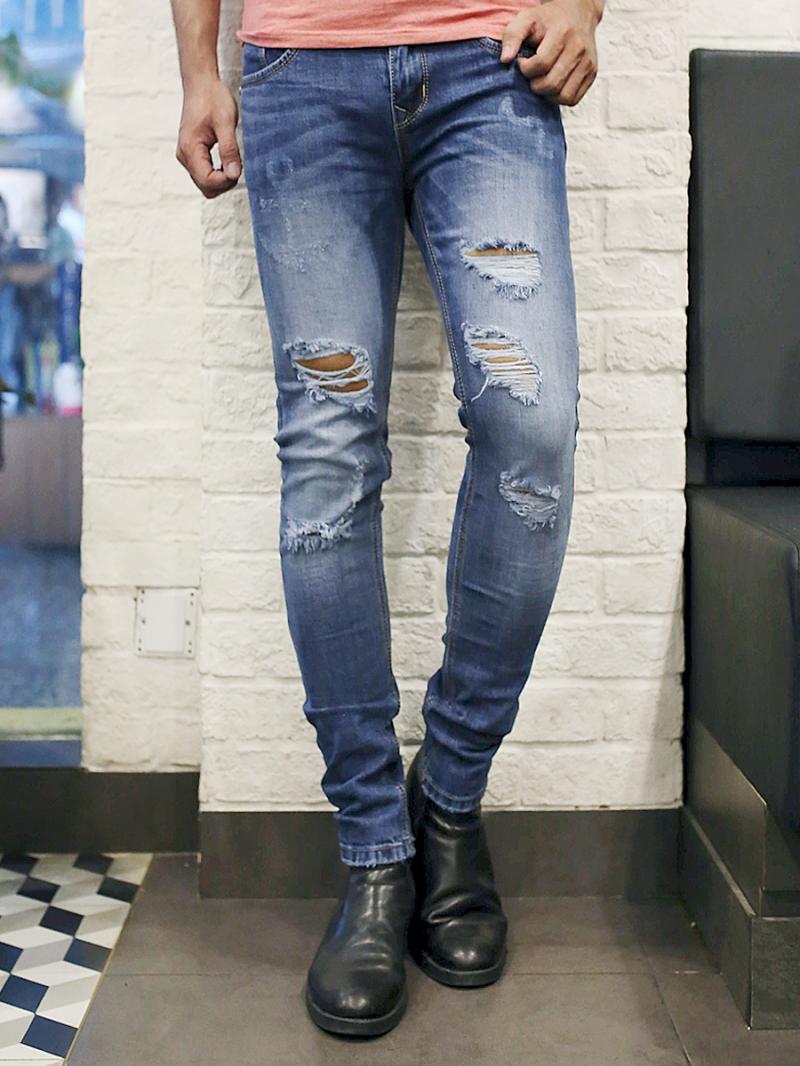 Quần jean skinny xanh qj1385 - 1