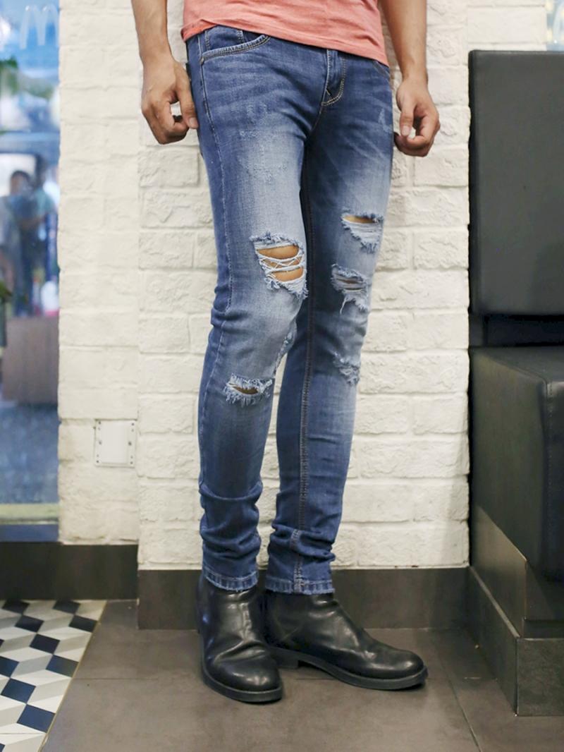 Quần jean skinny xanh qj1385 - 3