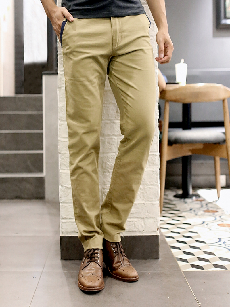 Quần kaki vải bố vàng qk157 - 1