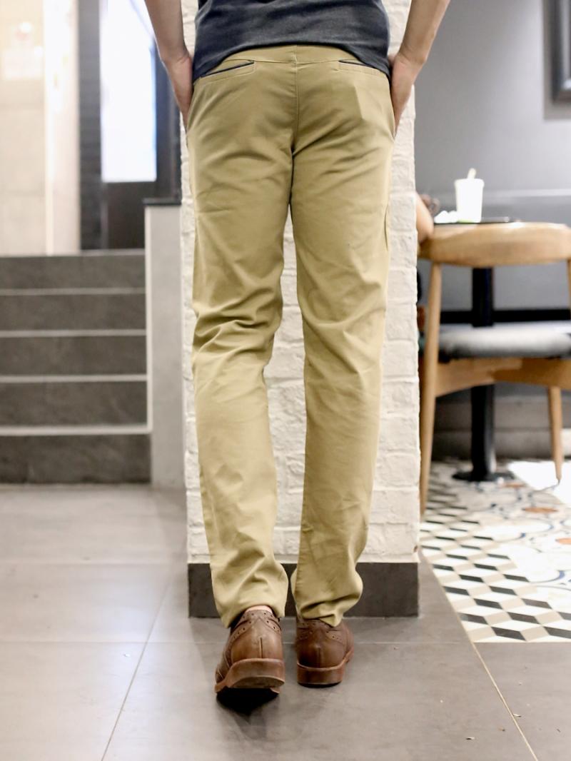 Quần kaki vải bố vàng qk157 - 2