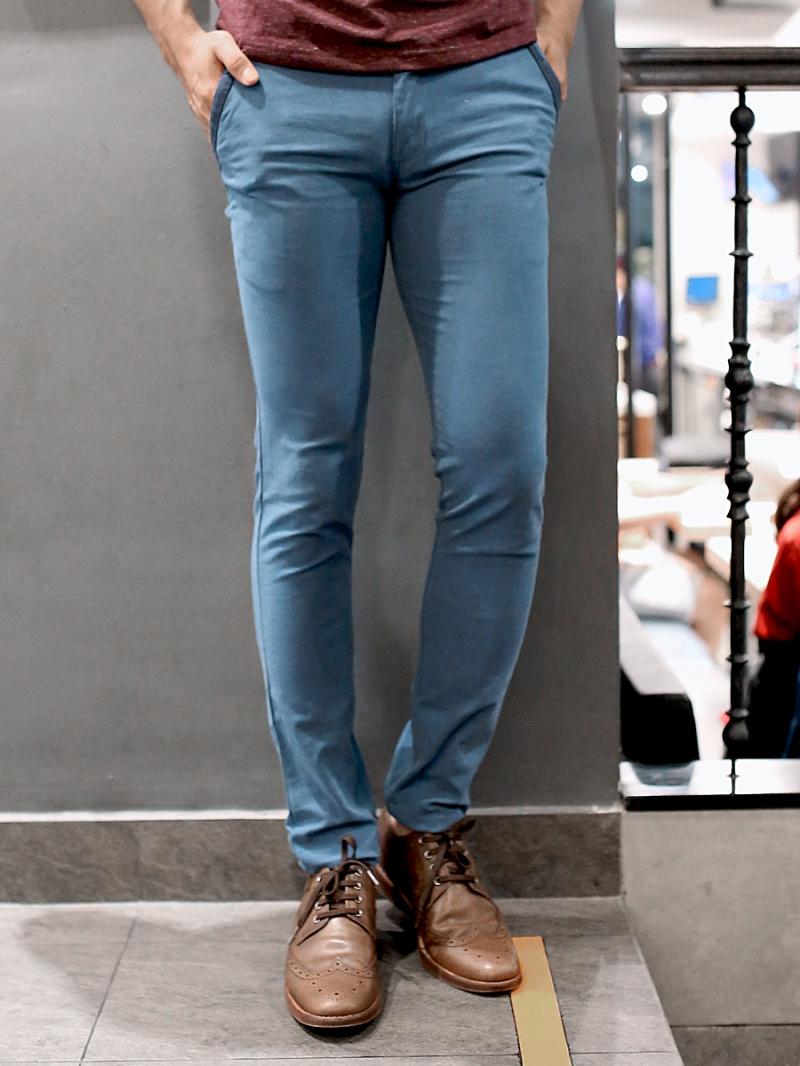 Quần kaki vải bố xanh cổ vịt qk157 - 1