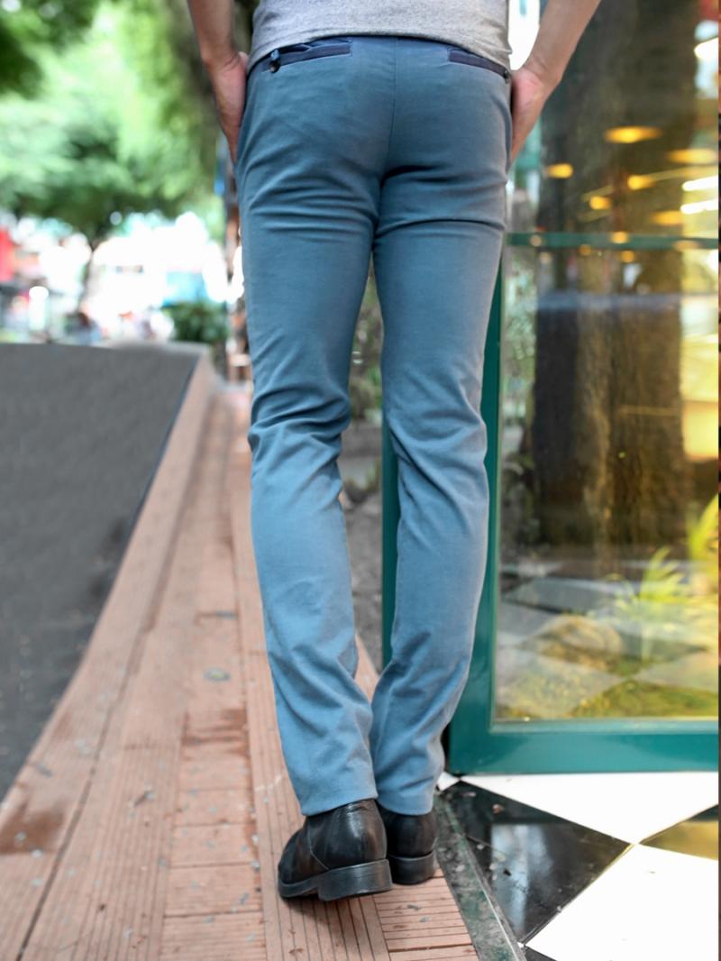Quần kaki vải bố xanh cổ vịt qk158 - 2