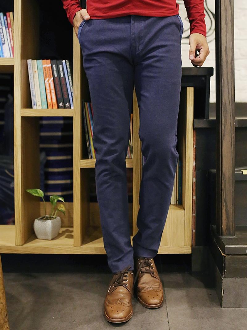 Quần kaki vải bố xanh đen qk157 - 1