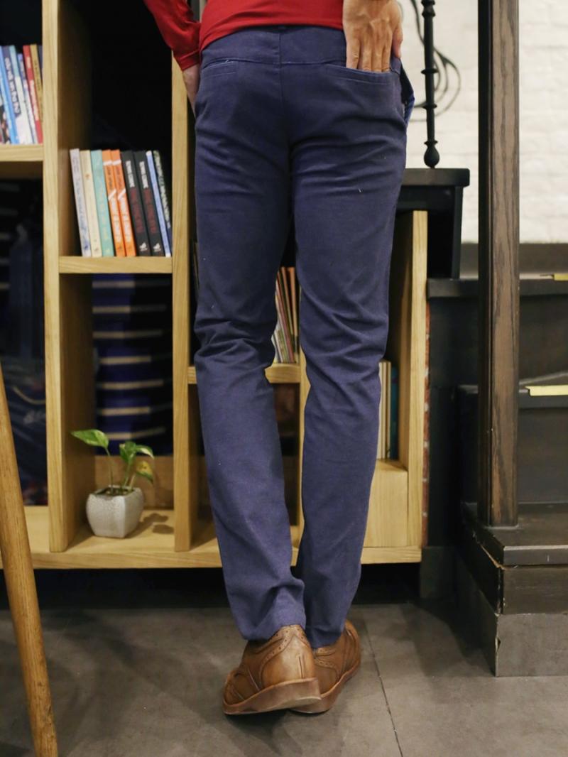 Quần kaki vải bố xanh đen qk157 - 2