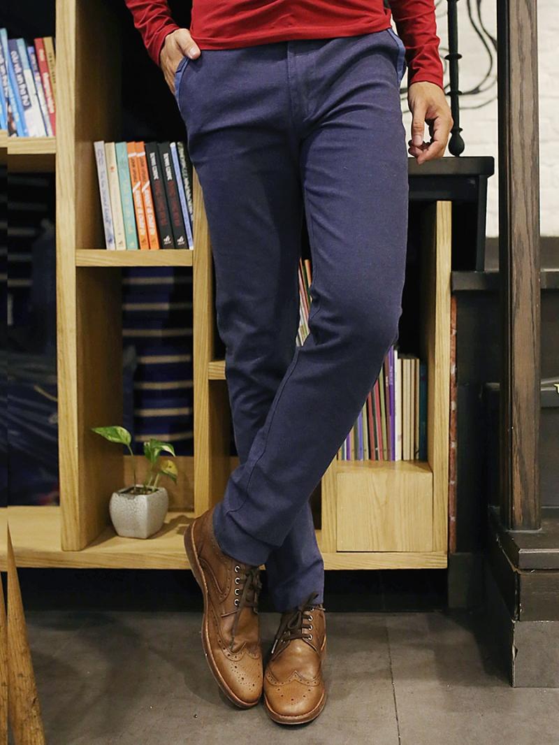 Quần kaki vải bố xanh đen qk157 - 3