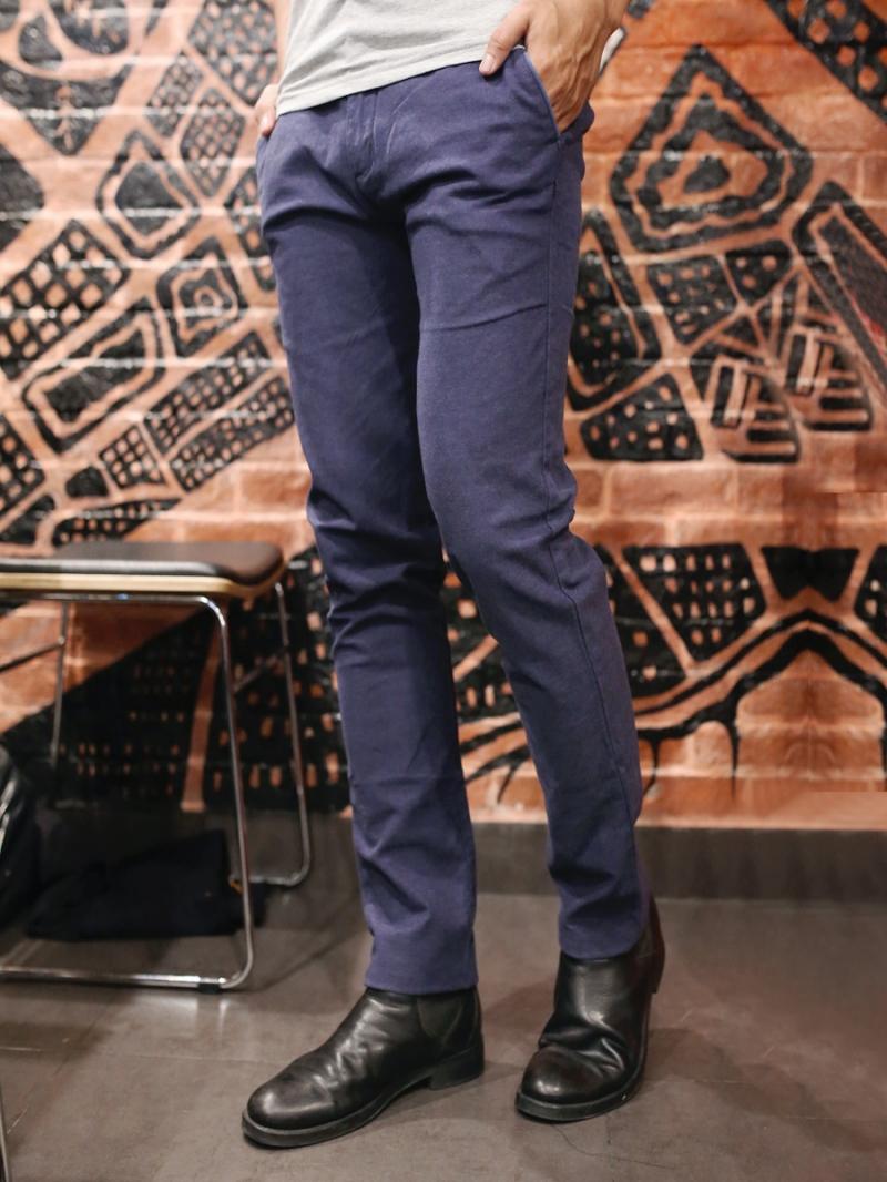 Quần kaki vải bố xanh đen qk158 - 2