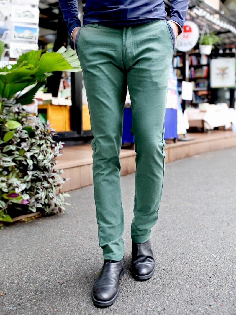 Quần kaki vải bố xanh lá cây qk157 - 1