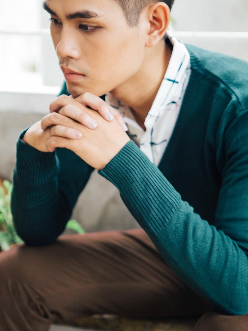 Áo cardigan len xanh ac087 - 2