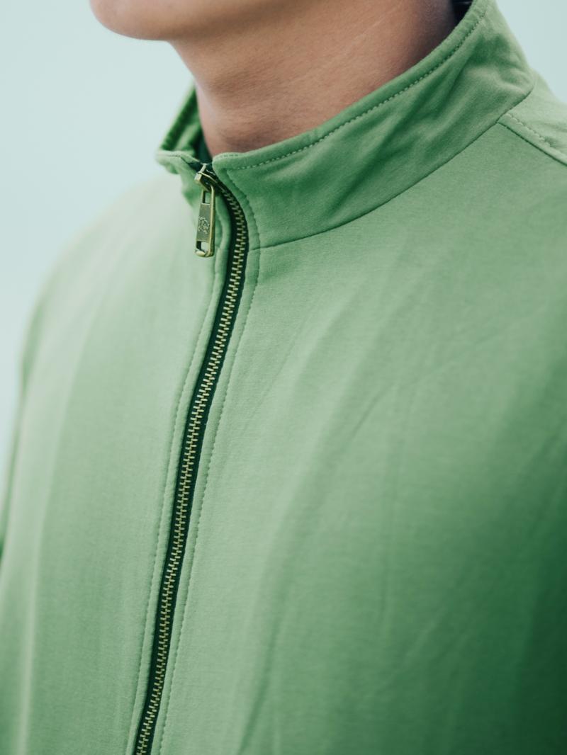 Áo khoác nỉ xanh lá cây ak201 - 3