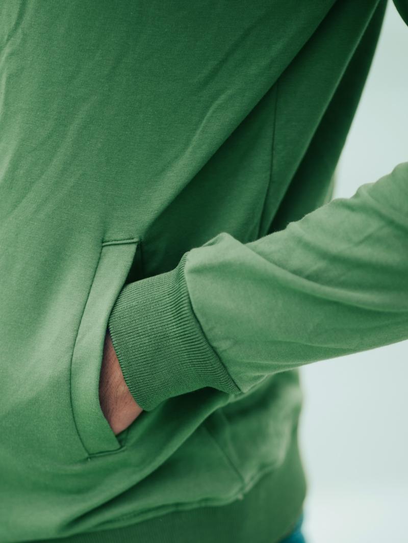 Áo khoác nỉ xanh lá cây ak201 - 4