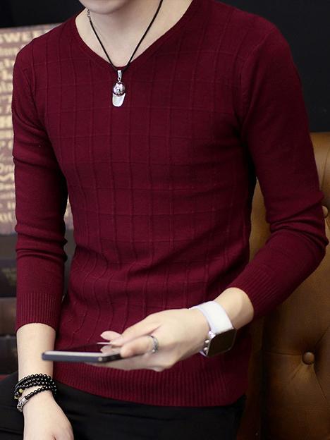 Áo len đỏ đô al90 - 1