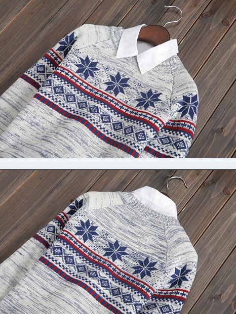 Áo len trắng kem al89 - 3