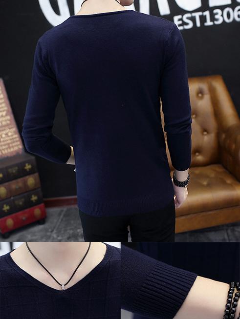Áo len xanh đen al90 - 2
