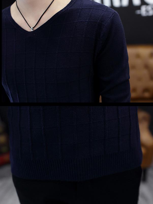 Áo len xanh đen al90 - 3
